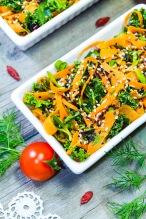 morcovi, varza rosie, vlastari de floarea soarelui, loboda rosie, marar, seminte de susan, kale, mangold, macris, frunze de gulie rosie