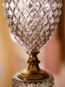 Detail from antique glass lamp