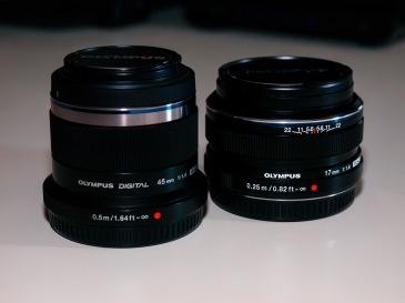 Olympus M.ZUIKO DIGITAL 45mm 1:1.8 and M.ZUIKO DIGITAL 17mm 1:1.