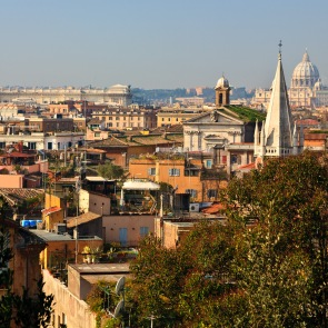 Looking over Rome, Italy