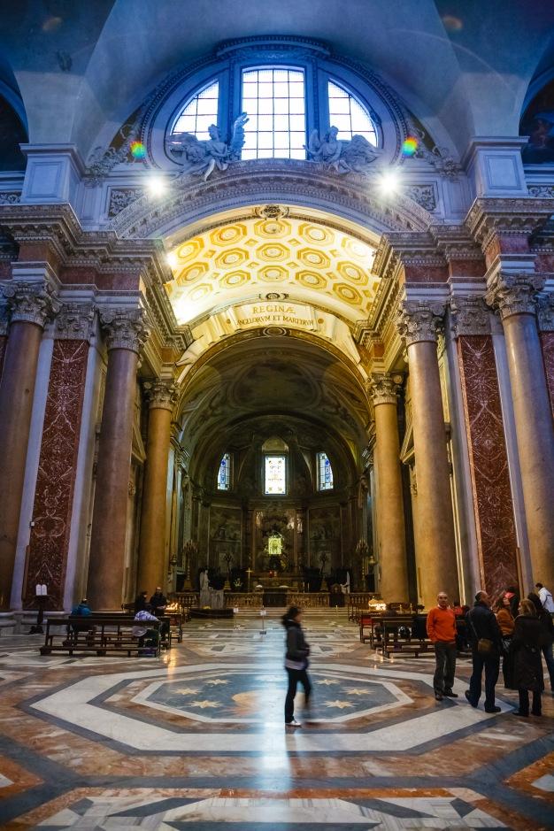 Church just off Piazza della Repubblica, Rome, Italy