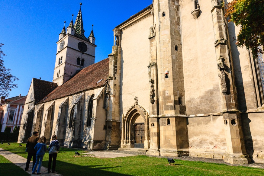 At the fortified church in Sebes, Transilvania, Romania