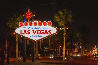 On the Strip at night, Las Vegas, NV, USA