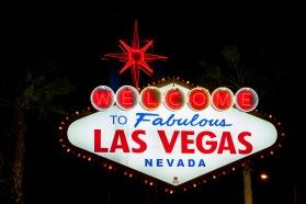 The famous Las Vegas welcome sign, Las Vegas, NV, USA