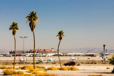 In the foreground, commuter airplanes for Area 51 staff -- or so the guide claimed -- Las Vegas, NV, USA