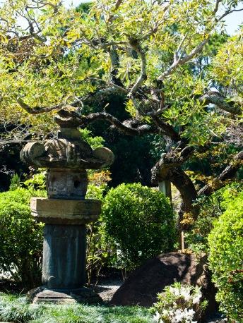 Stone lantern, Morikami Museum and Japanese Gardens, Delray Beach, FL, USA.