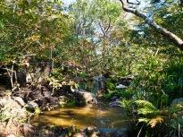 Waterfall, Morikami Museum and Japanese Gardens, Delray Beach, FL, USA.