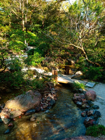 Happy little stream, Morikami Museum and Japanese Gardens, Delray Beach, FL, USA.