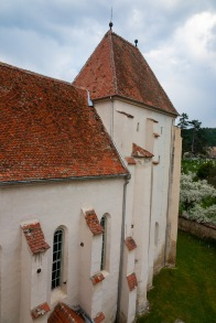 An old Saxon fortified church dating back to 1504, in the village of Bazna, Transilvania, Romania