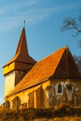 The fortified church in Hetiur, Transilvania, Romania