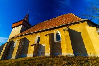 The fortified church in Hetiur, Transilvania, Romania