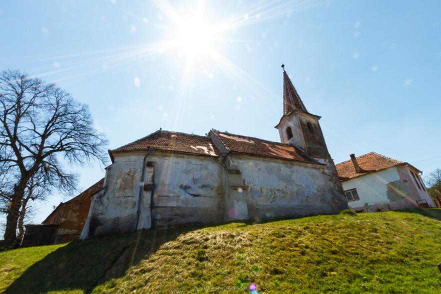 The fortified church in Viisoara, Transilvania, Romania