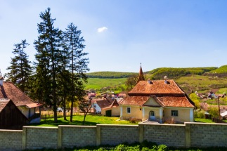 The fortified church in Zagar, Transilvania, Romania