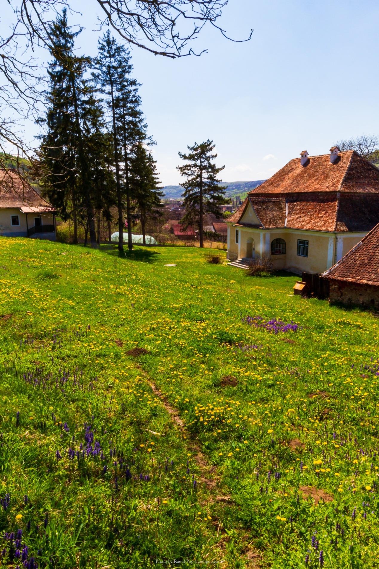 The fortified church in Zagar, Transilvania, Romania