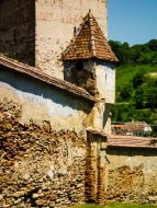 At the fortified Saxon church in Mosna, Transilvania, Romania