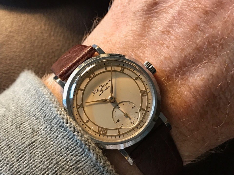 An early 1950s JW Benson Watch