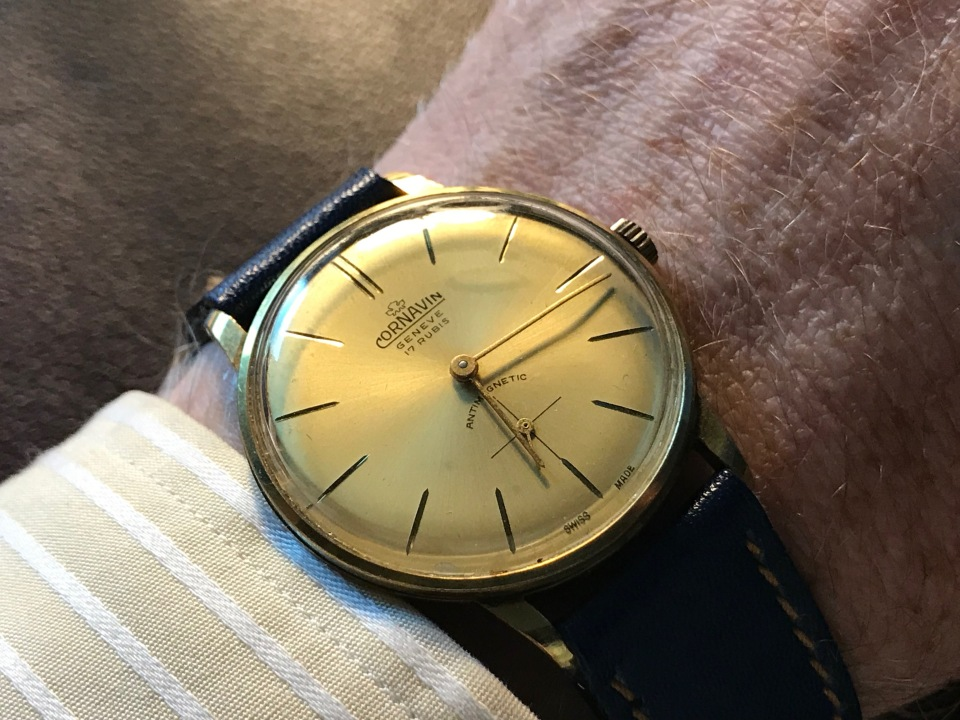 A 1940s Cornavin Geneve Watch