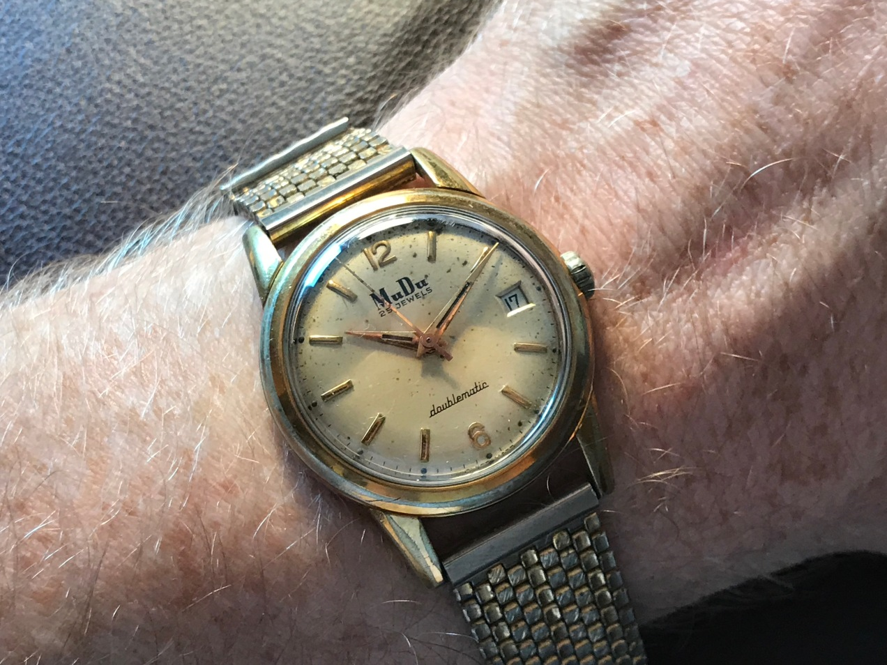 A 1950s MuDu Doublematic Watch