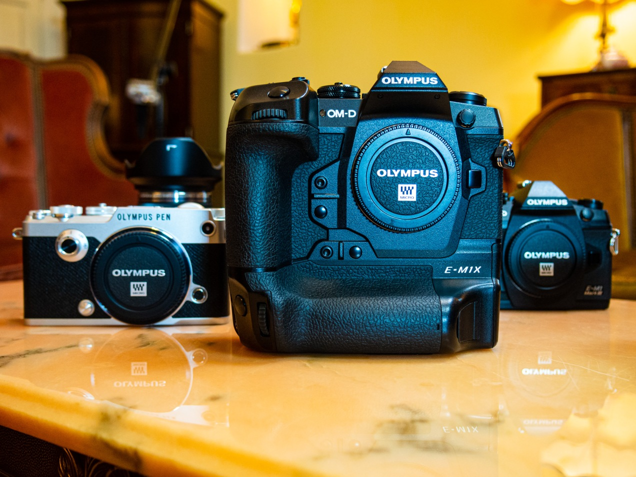 Olympus PEN-F, E-M1X and E-M1 Mark III Mirrorless Cameras